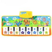 Детский игровой коврик с клавиатурой пианино, музыкальные коврики, сенсорные игровые коврики для детей, музыкальные развивающие игрушки, п...