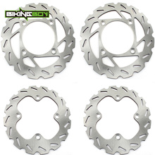BIKINGBOY ATV Front Rear Brake Discs Disks Rotors For Yamaha YFM 550 Grizzly Auto FI 09 14 YFM 700 Grizzly Auto 4x4 2007 2019