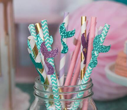 Vintage Wedding-To Have /& To Hold Perfect with Paper Straws /'LOVE/' STRAW FLAGS