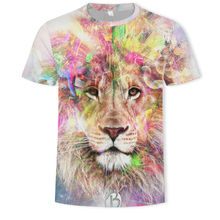 2019 Animal High Quality The lion Move Printed 3D T-shirt hip hop style 3D Short Sleeve T-Shirt S-5XL Men's T-Shirts cool