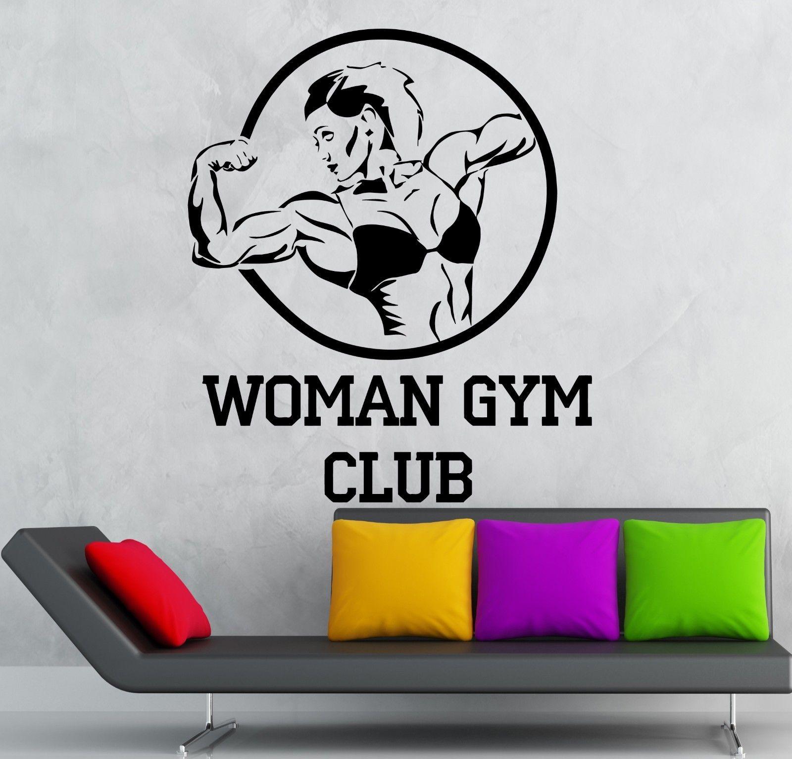 2016 new sport Woman Gym Club Vinyl Decal Sport Bodybuilding Fitness ...