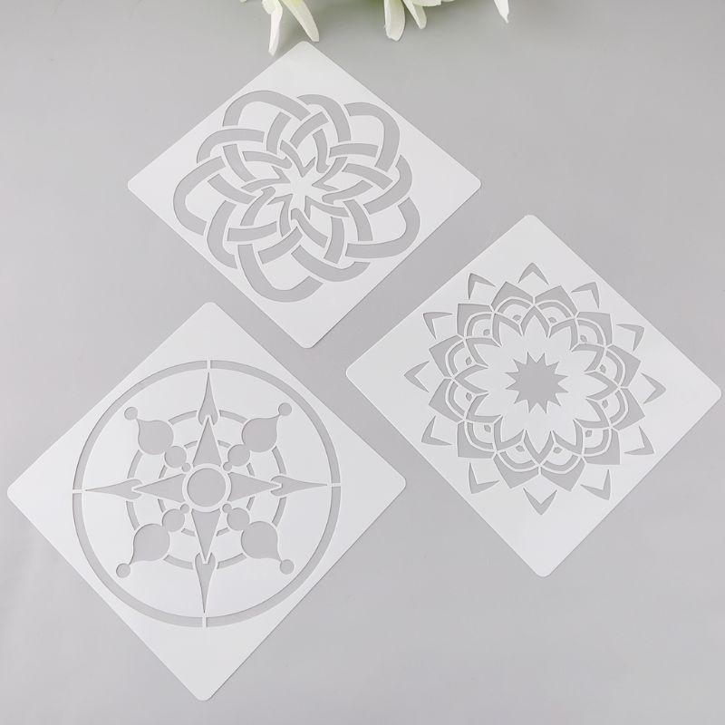 Home Romantic 12pcs Kids Datura Flowers Drawing Molds Plastic Children Painting Stencils Diy Paper Art Craft Card Label Scrapbook Bookmark Diversified Latest Designs