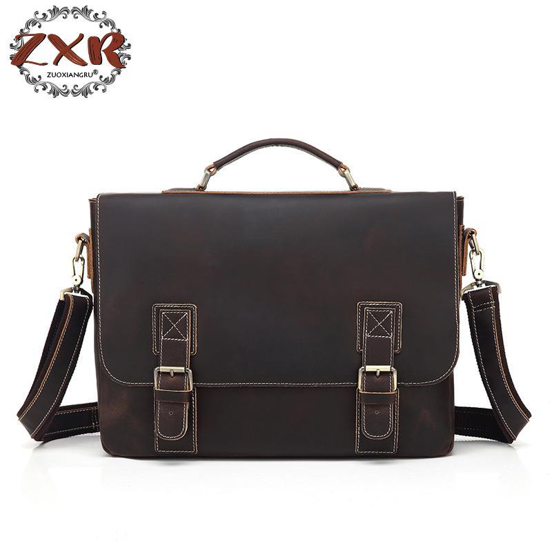 Brand Leather Bag And Handbag Retro Trend Crazy Horse Leather Business Men Shoulder Messenger Bag Tide navigator 71 422 nls 5050y30 7 2 ip20 12b r5 5 4670004714225 220235