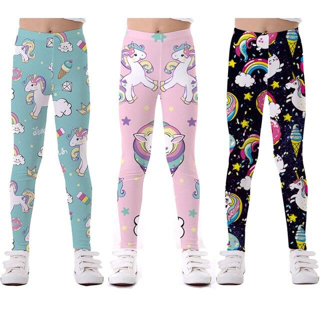 8ec76e99cc443 US $9.87 24% OFF|unicorn girls leggings baby girl leginsy kids pants  trousers for girls children legging elasticity Breathable Soft Print -in  Pants ...