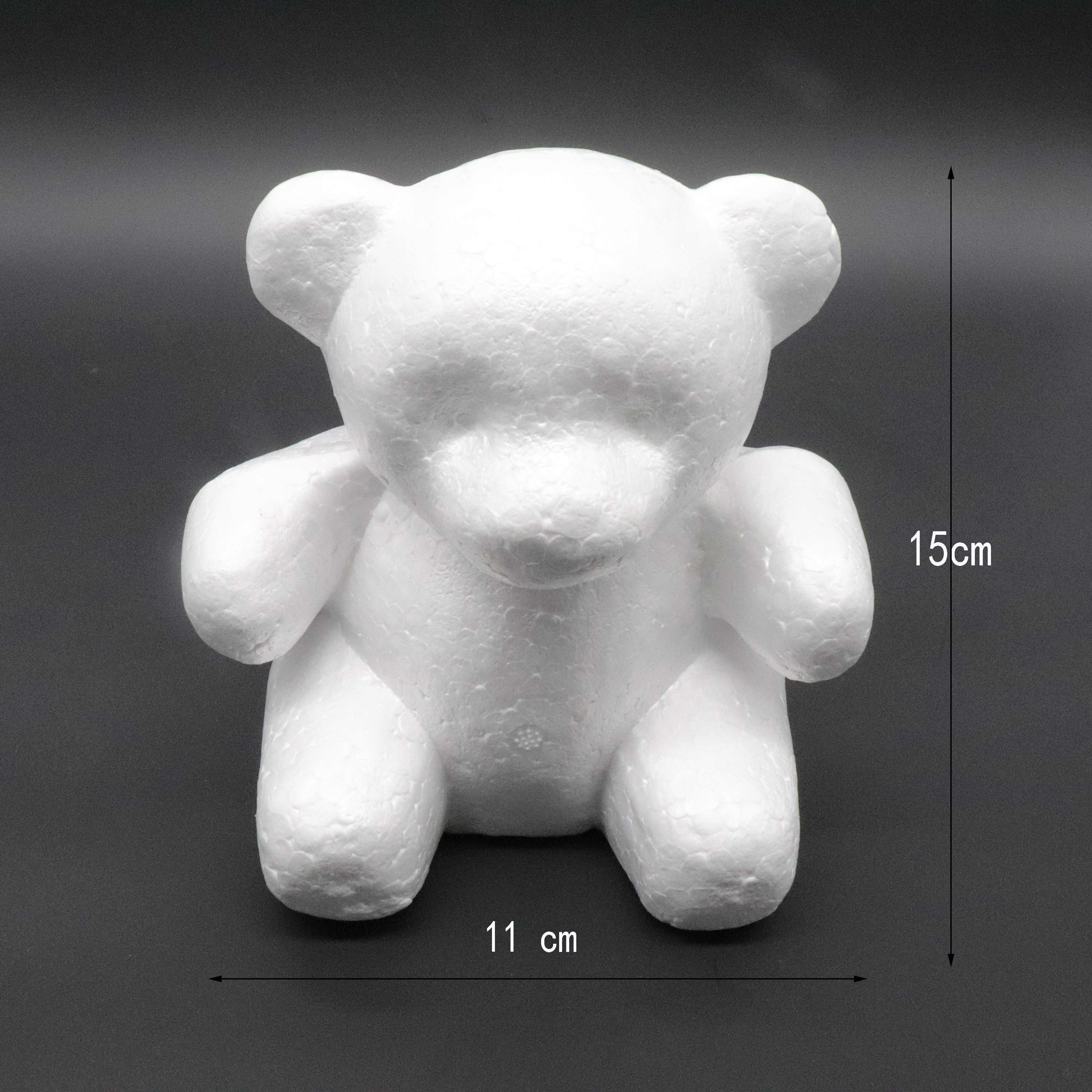 1 قطعة 150 مللي متر/200 مللي متر النمذجة البوليسترين الستايروفوم رغوة الدب الأبيض الحرفية كرات لتقوم بها بنفسك عيد الميلاد لوازم الديكور حفلة هدايا