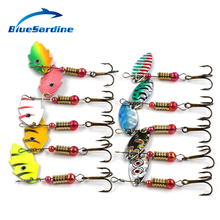 BlueSardine Quality Spinnerbait Fishing Lure Metal Spinner Bait Fishing Tackle 4G 6CM 10pcs/lot