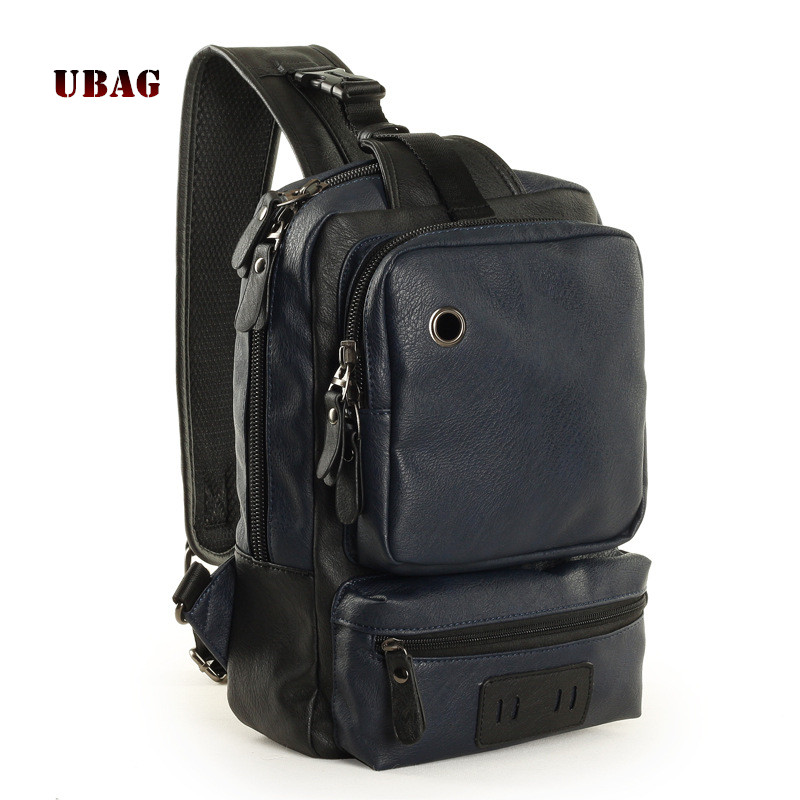 Ubag 2018 Fashion PU Leather Men's chest bags Male Messenger bag men shoulder casual pocket Multi layer big space Cross body bag hot sale men pu leather shoulder cross body bag rucksack high quality messenger bags fashion casual male single chest back pack