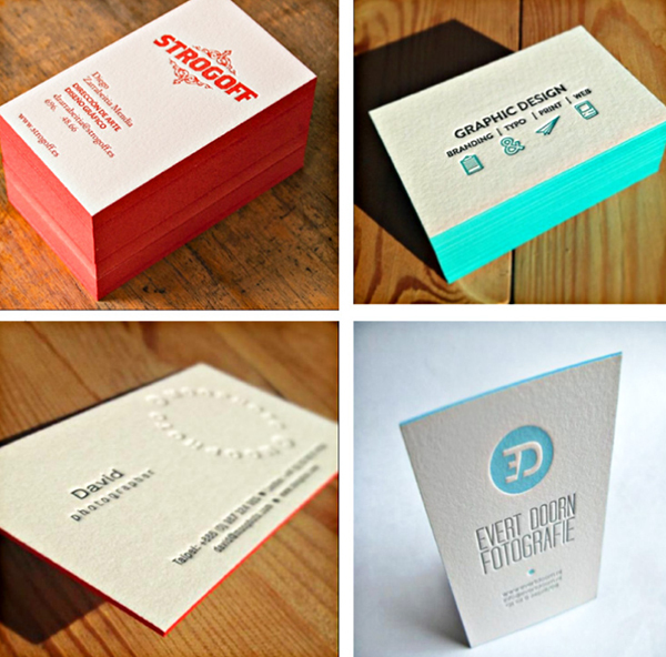 Beauty design 600gsm cotton custom letterpress business card edge beauty design 600gsm cotton custom letterpress business card edge color business card printing service carte de reheart Image collections