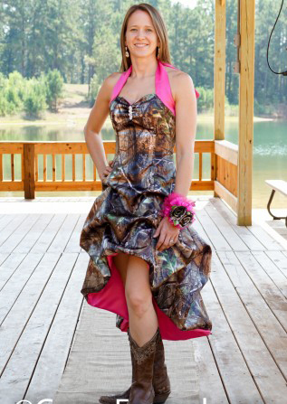 Short Front Long Back Realtree Camo Prom Dress Pickup Camouflage