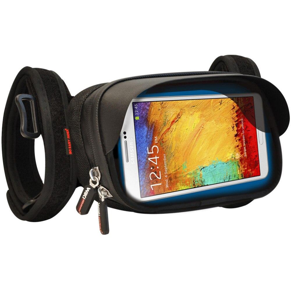 imágenes para Smartphone Sostenedor Del Montaje para el iphone 7 Plus, para Samsung Nota con 5.5 pulgadas de pantalla para atar en La Motocicleta Manillar