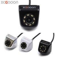 XCGaoon 8 LED Night Vision Car Rear View Camera Universal Backup Parking Camera Waterproof Wide Angle