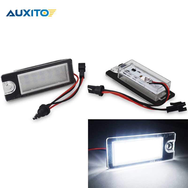 2X Canbus White Car LED License Plate Lights 3528 SMD Number Plate Lamp For Volvo XC90 S60 V70 S80 XC70 kam cyclops