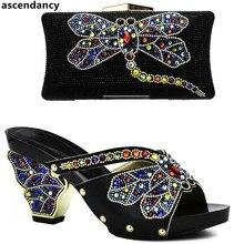 c4784f7a Últimas negro Color zapatos italianos con los bolsos que emparejan zapatos  africanos y emparejando los zapatos