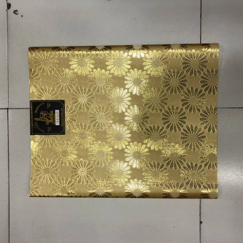 Home & Garden Fabric Honesty 2pcs/set African Sego Headtie Gold Color Latest Nigerian Headtie High Quality Sego Gele Headtie For Women