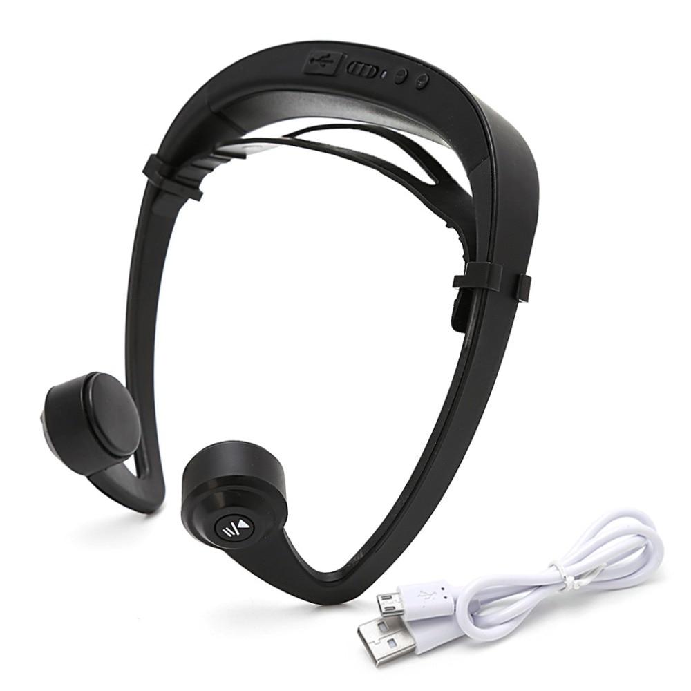 V9 Ear Hook Bone Conduction Bluetooth 4.2 Sports Headphone Headset With Mic Adjustable headband For Android IOS Smartphone bluetooth 4 1 bone conduction sports waterproof headset wireless ear hook headphone w mic white