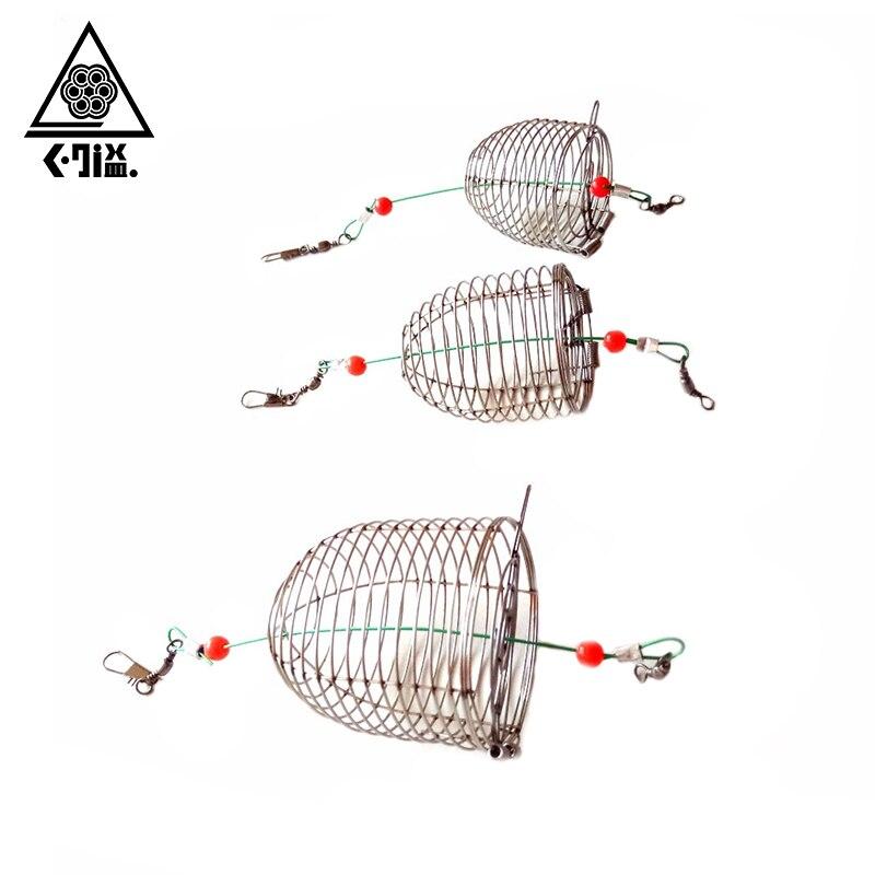 Carp Fishing Feeder Bait Cage Fishing Holder Lure Bait Cage Fishing Accessory L