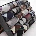 2016 Nueva 5 pares de los hombres de invierno calcetines de lana gruesa warmin calcetines Sudor no oficial formal asequible barato regalo caja