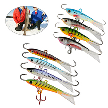 Goture Winter Ice Fishing Lure Minnow Hard Artificial Bait Pesca Carp Fishing for Bass Walleye Trout Panfish and Pike 4pcs
