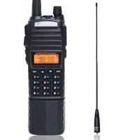 Baofeng UV 82 8 Watt powerful Walkie Talkie UHF VHF Dual Band 3800mAh With DC Connector for hunting Radio+Tactical antenna