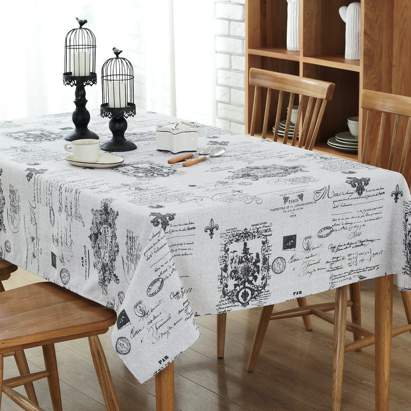 European Countryside stamp printing cotton polyester Table Cloth party restaurant Home decor Decoration cover 1pcs price 6size