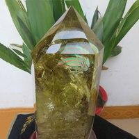 Топ Rare! 2,5 кг AAAA + большой натуральный кристалл цитриновый Кристалл одиночный Кристал острый палочка большая Радуга в рейки заживление
