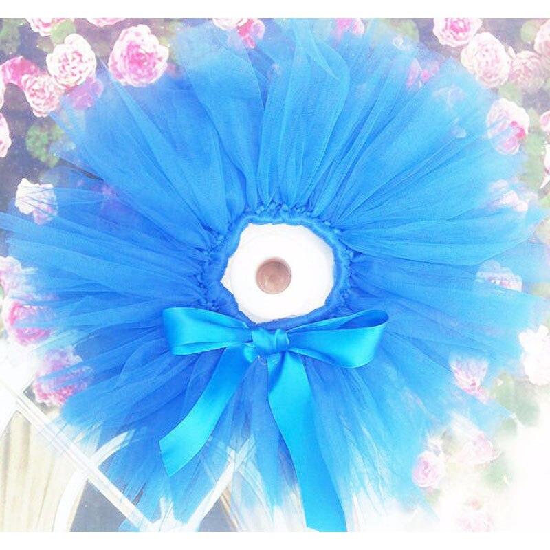 Лидер продаж; фатиновая юбка-пачка для маленьких девочек и повязка на голову с цветами; Комплект для новорожденных; реквизит для фотосессии; подарок на день рождения; 10 цветов; ZT001 - Цвет: only skirt blue