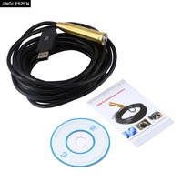 Newest 14 5mm Cmos 5m Mini Waterproof Snake Pipe Cam Endoscope USB Borescope Inspection Camera With