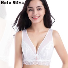 15b7189d63a Full Coverage Bras for Women Plus Size Brassiere Ultra Thin Cup Minimizer  Bra C D E Cup BH