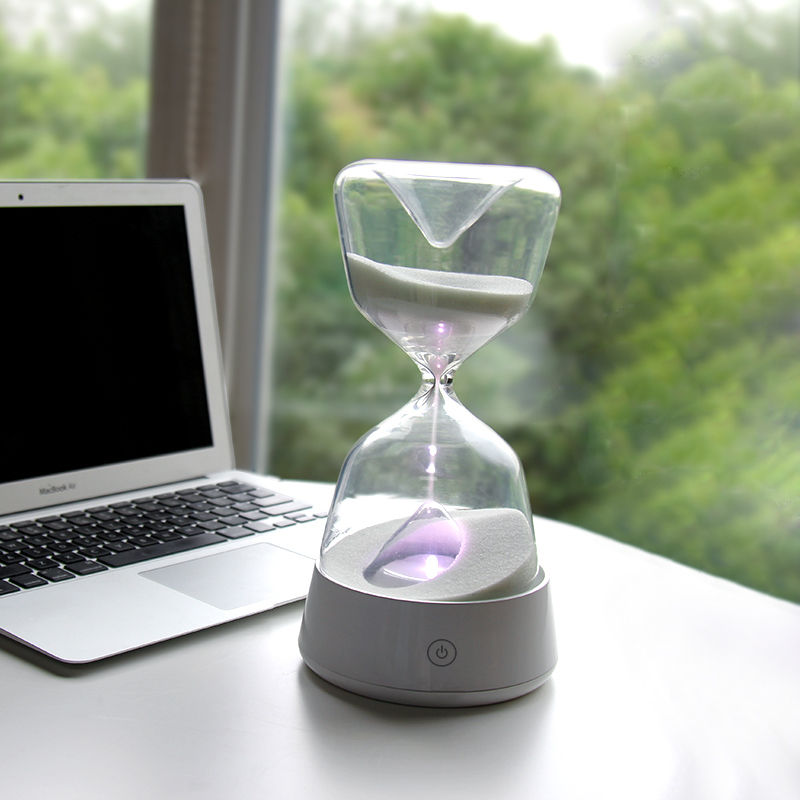 Romantic Colorful Hourglass Timer Night Light Bedside Sleeping Timer Desk Touch Lamp Color Changed Decor Sandglass Child Gifts