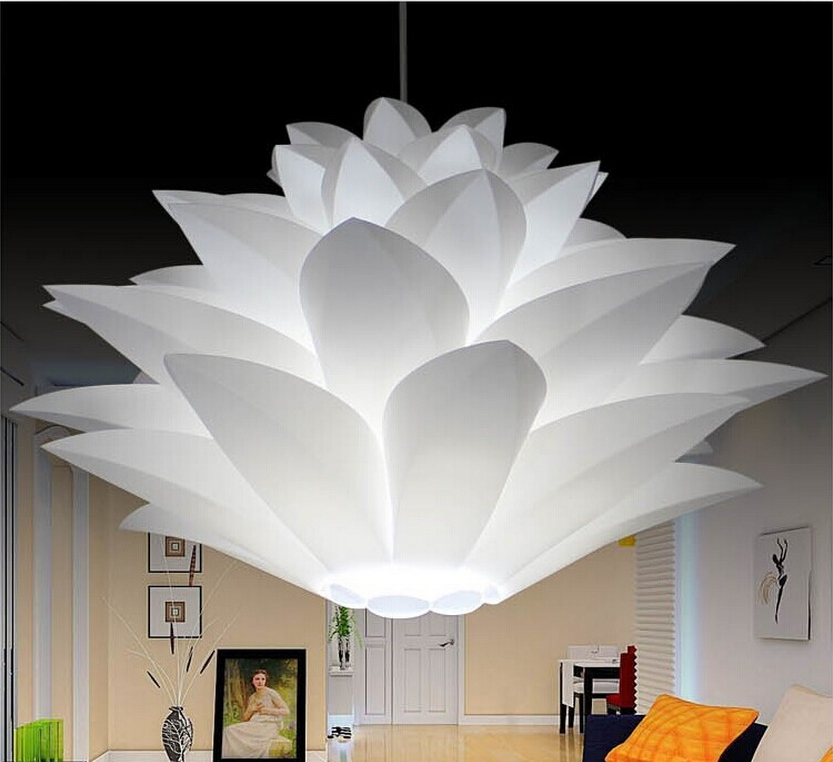 55CM Lotus Light Flower Pendant Light Material Of PVC