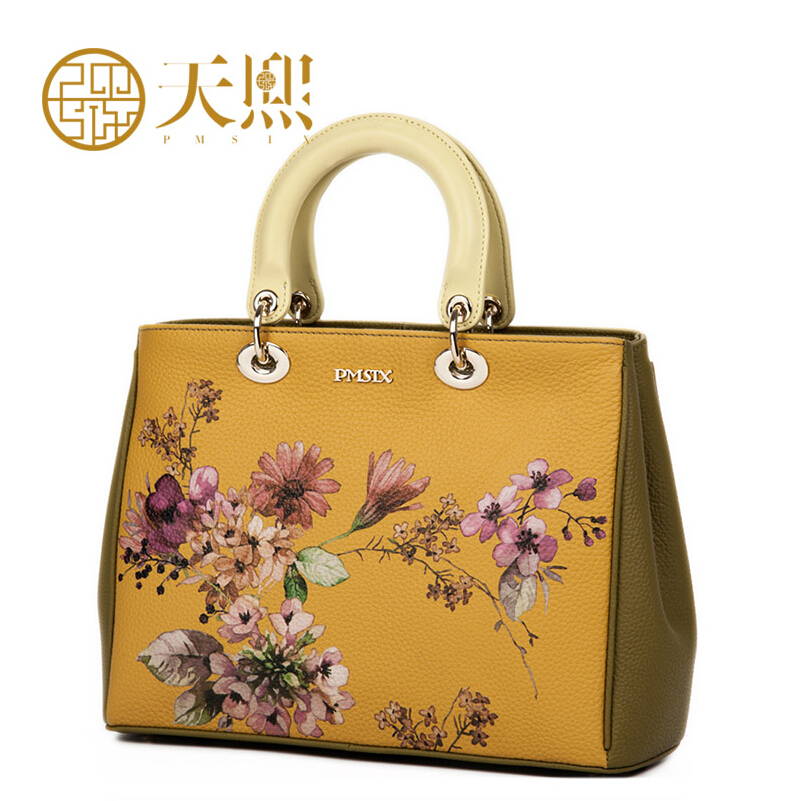 Famous brand top quality dermis women bag  2015 new retro Chinese wind printing handbag Shoulder Messenger Bag Diana package