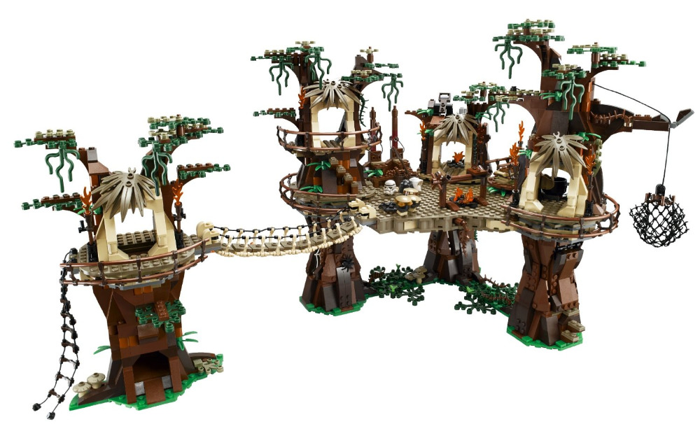 LEPIN Star sapce Wars Ewok Village Figure Model Kids Building Block Toys Marvel Compatible Bela Educational DIY brick block ZE lepin 22001 pirate ship imperial warships model building block briks toys gift 1717pcs compatible legoed 10210