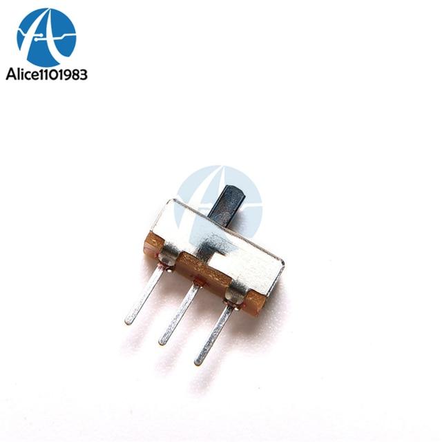 20 PCS 3 Pin 1 Pólo 2 Lance SS12D00G3 2 Posição SPDT 1P2T Painel PCB Mini Vertical Slide Switch Deslizante botão Atuador KIT DIY