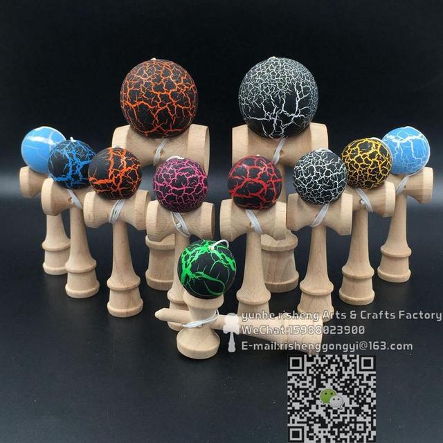 TWB розничная crack kendama 12 см Смешные Японские бук Игры в Мяч красочные PU Краска дань профессиональный мини