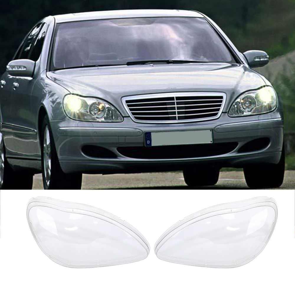 1 par izquierda y derecha faro claro lente lentes Clear transparente para Benz W220 S500 S320 S350 S280 98-05 XNC