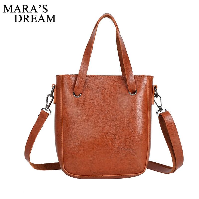 Mara's Dream Women Messenger Bag Solid Oli Leather Zipper Shoulder Bag Famous Women Crossbody Small Bags Mini Female Handbag stylish women s crossbody bag with solid