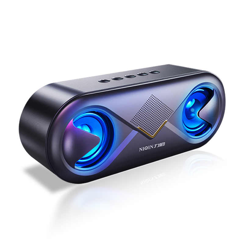 2019 NEW 6D stereo sound Portable Bluetooth speaker 10W Wireless Loudspeaker outdoor speaker support TF card/usb drive/AUX