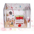 """Sweet Dream"" Toy House Miniature 3D Wood Doll House Puzzle Dollhouse Miniaturas Furniture House Doll For Birthday Gift Toys"