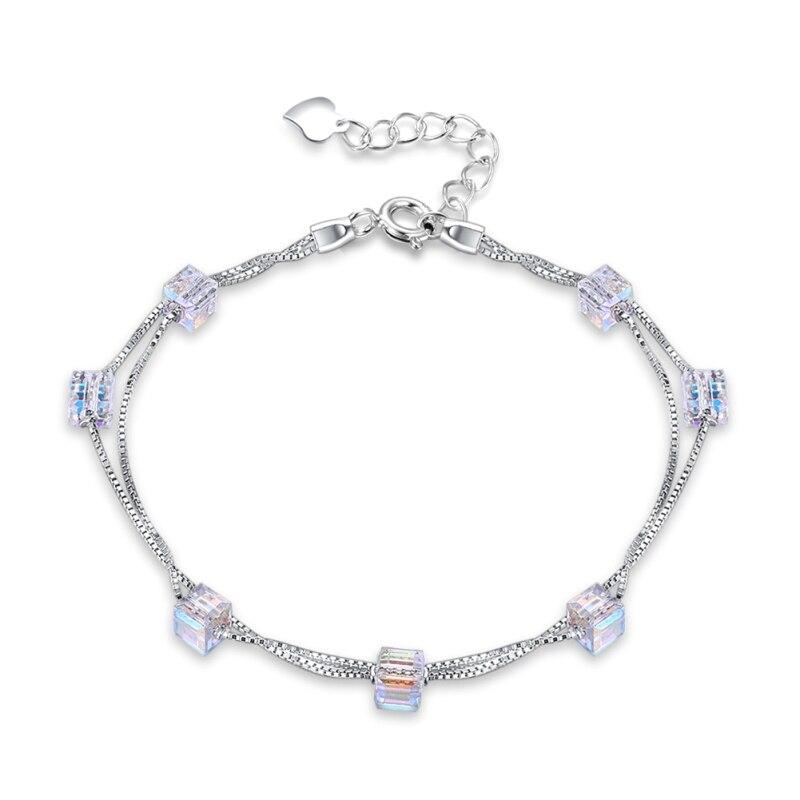 Купить модные кубические циркониевые хрустальные браслеты для женщин