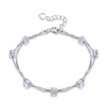 Модные кубические циркониевые хрустальные браслеты для женщин