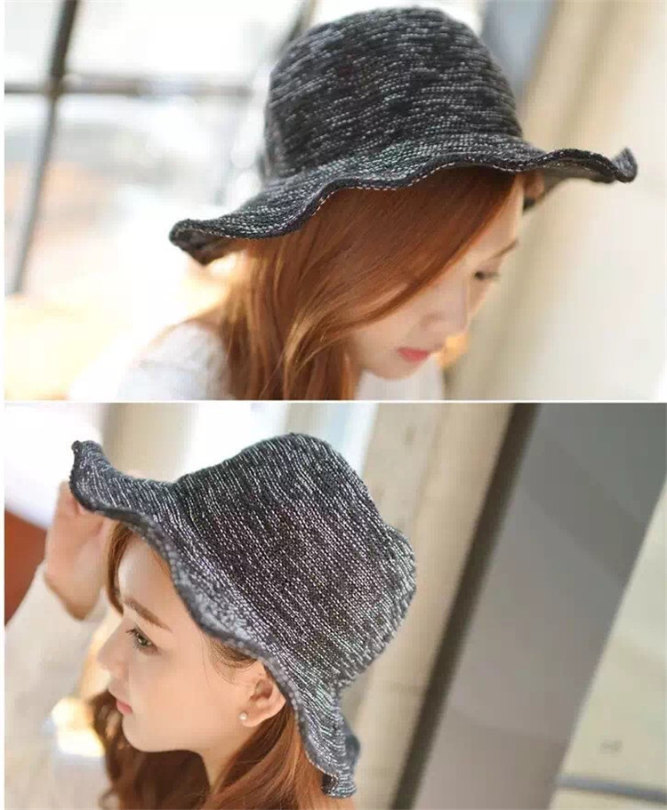 Summer New Style Hat Lady Cotton Collapsible Sun Protection Hat Outdoor Travel Casual Beach Bucket Hats ACF17 (6)