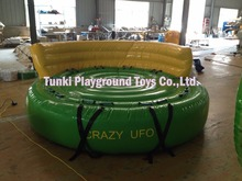 inflatable crazy UFO with cushion water sports game