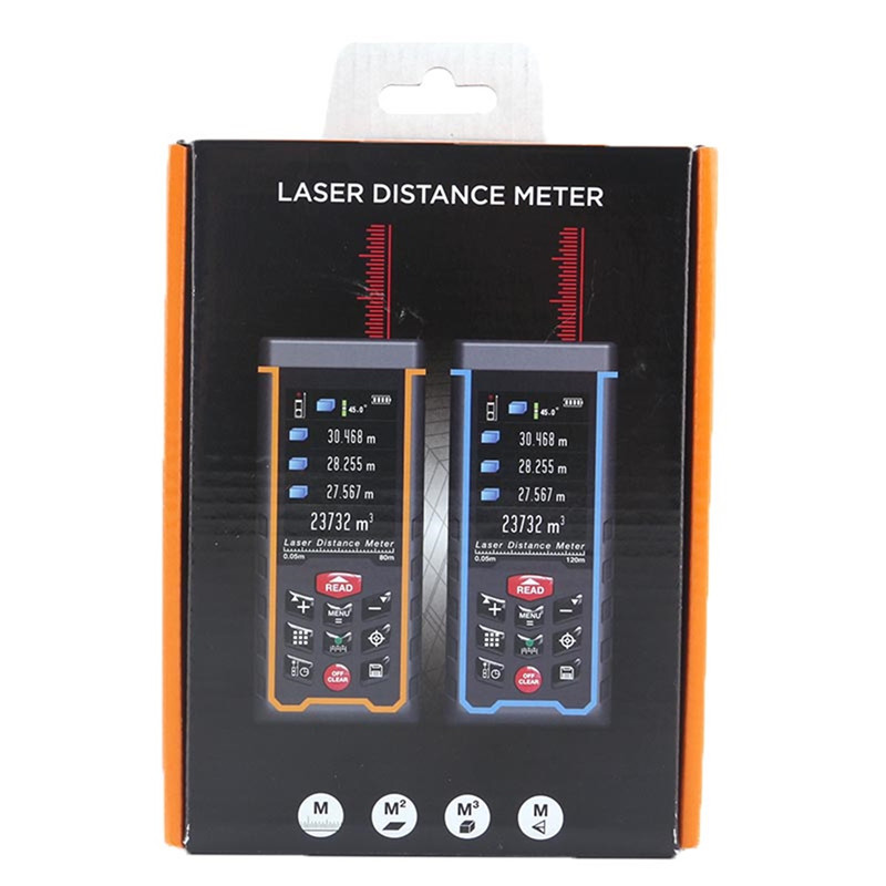 Original SNDWAY laser distance meter 120m laser range finder SW-S120 Camera USB Bubble level bluetooth laser metering tool drill buddy cordless dust collector with laser level and bubble vial diy tool new