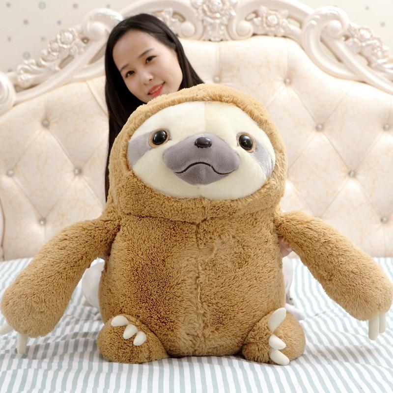 27 70cm Big Size New Arrived Sloth Plush Toy Sloth Soft Stuffed Doll Cute Sloth Plush Gift Simulation Sloth Doll