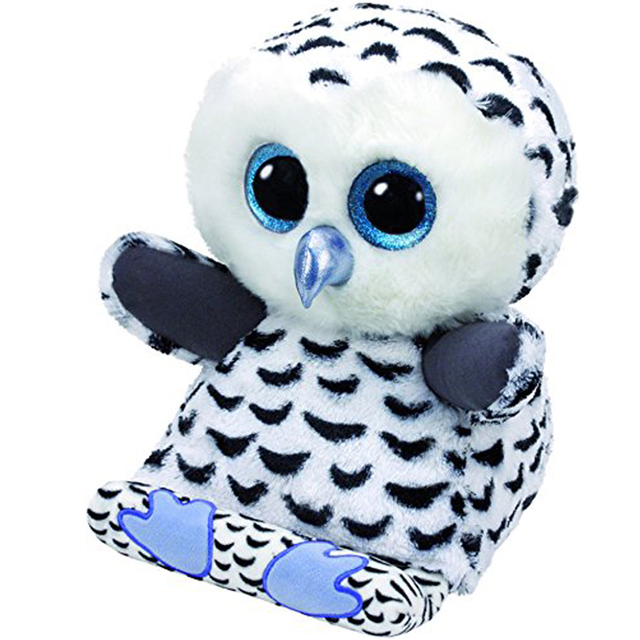 6f9954ace09 Ty Peek-A-Boo Phone Holder with Screen Cleaner Bottom Omar the Owl Plush  Soft Stuffed Animal Collectible Doll Toy with Heart Tag