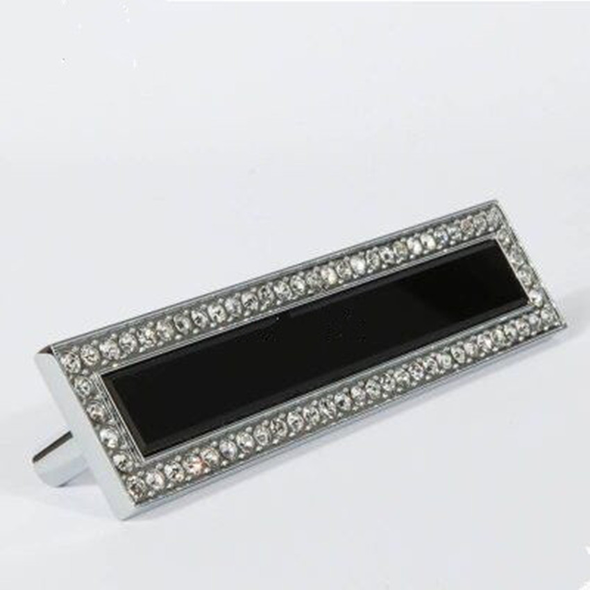 96mm fashion deluxe rhinestone dresser win cabinet door handles silver K9 crystal black glass drawer cupboard door knobs pulls корпус in win emr035 silver black