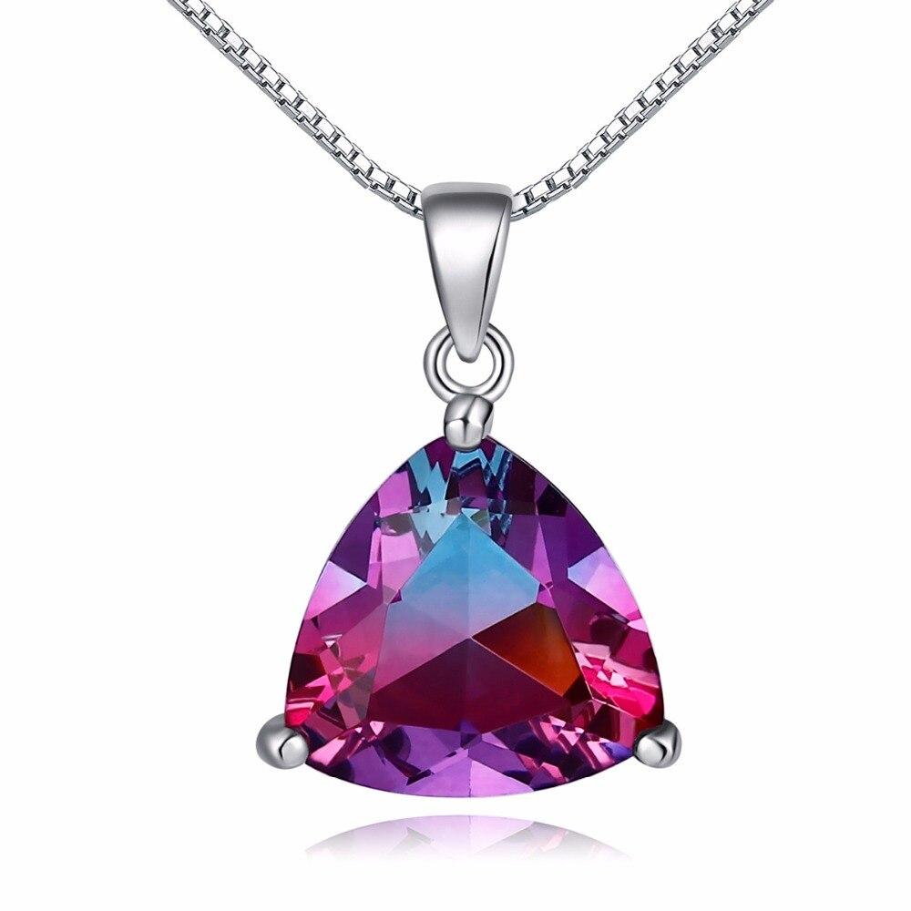 Ювелирные изделия цвет кристалл кулон Серебряный Цепочки и ожерелья производителей группы Подвеска для женщин подарок FUL01