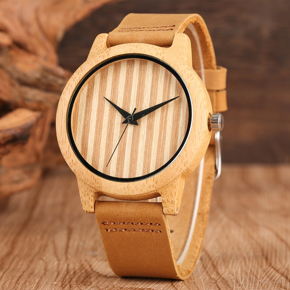 Cute Women's Wooden Watch Lovely Simple Big Dial Wooden Watches Girl Chic Style Natural Non-toxic Wooden Quartz Watch Lovers