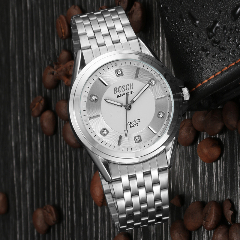 New men's leisure business men Fashion Watch Stainless Steel Unisex Concise Casual Luxury Business Wristwatch 2018 new fashion stainless steel belt simple leisure luxury business watch