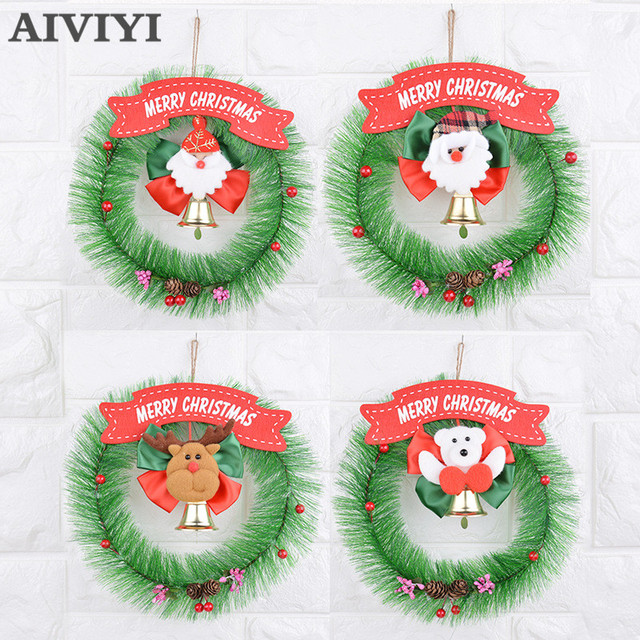 foreign trade superior doll double bell garland christmas wreath